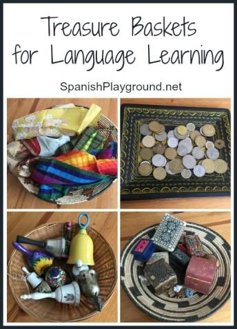 Montessori treasure baskets help parents create a rich language experience.