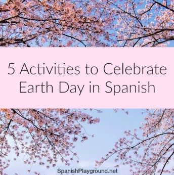 Earth Day in Spanish teaches kids vocabulary about animals and the planet.