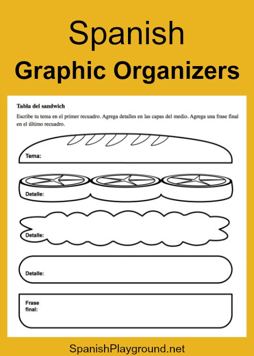 Spanish graphic organizers help kids master vocabulary.