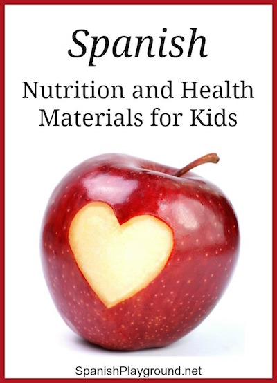 Spanish nutrition in picture books and activities for kids.