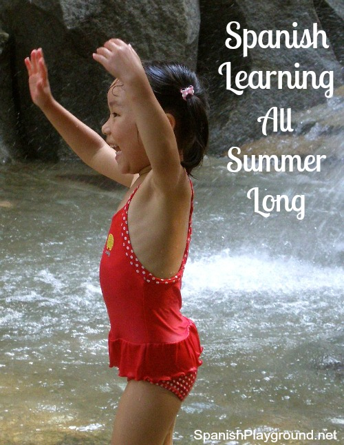 Spanish summer activities for kids like nature walks and traditional games keep them learning Spanish during vacation.