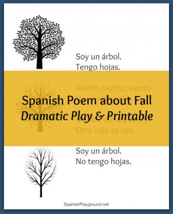 Spanish Poem about fall for preschoolers to act out.
