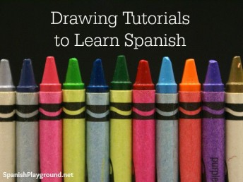 Drawing tutorials in Spanish teach language learners vocabulary and grammar.