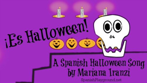 Halloween song in Spanish by Mariana Iranzi with seasonal vocabulary.
