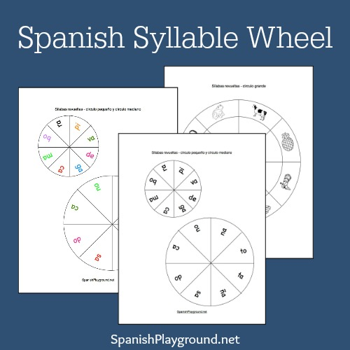 spanish syllables printable wheel spanish playground. Black Bedroom Furniture Sets. Home Design Ideas