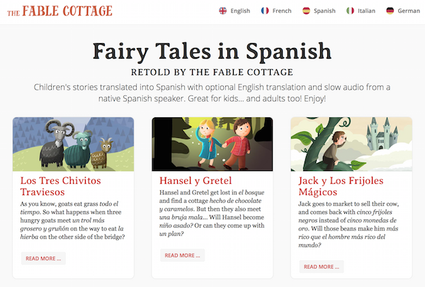 Use this collection of online Spanish stories with language learners.