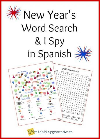 Celebrate 2019 with this Spanish New Year word search and I spy game.
