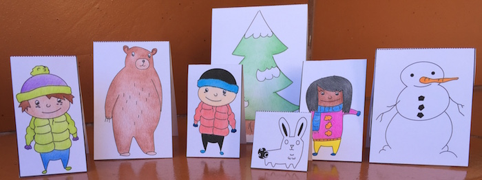 A Spanish story about a bear with printable figures for acting it out.