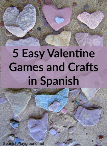 Spanish Valentine games and crafts help children learn language with hands-on fun.