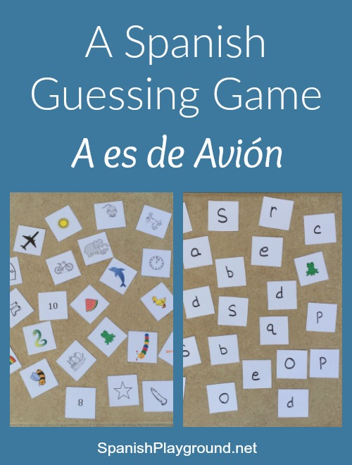 This Spanish guessing game teaches vocabulary and letter sounds.