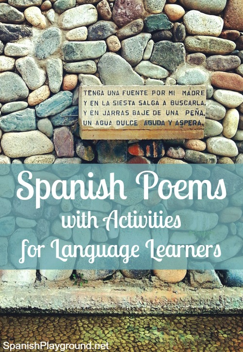 Spanish poems for children teach vocabulary, culture and a love of language.