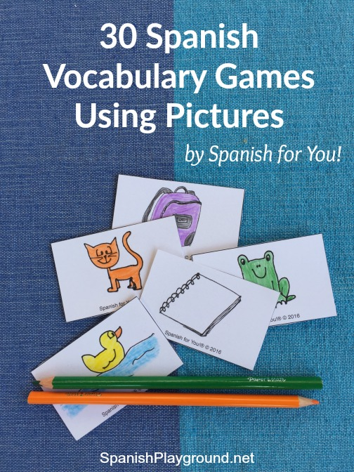 Spanish vocabulary games with pictures keep kids motivated and learning.