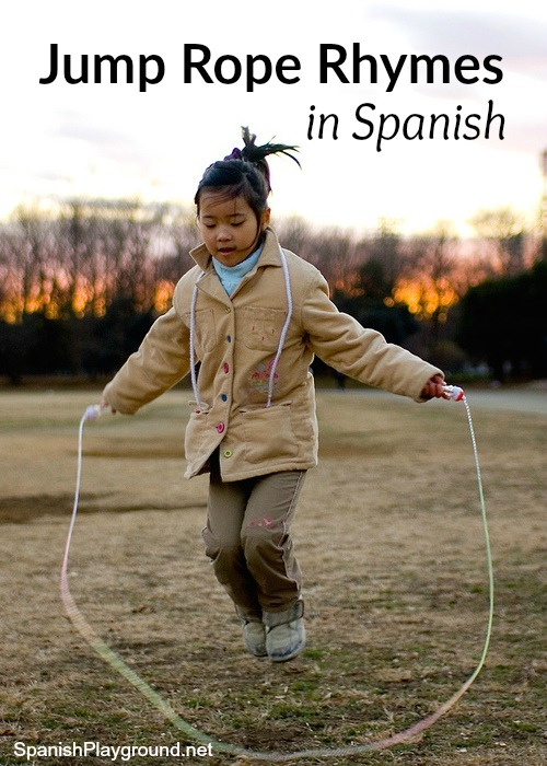 Spanish jump rope rhymes teach children vocabulary, structre and culture as they play.