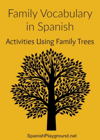 Kids learn family members in Spanish with these activities using family trees.