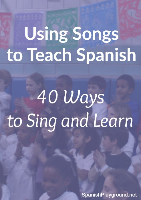 Using songs to teach Spanish is a fun with this list of 40 music activities.