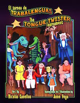 A bilingual tongue twister book for children learning Spanish.