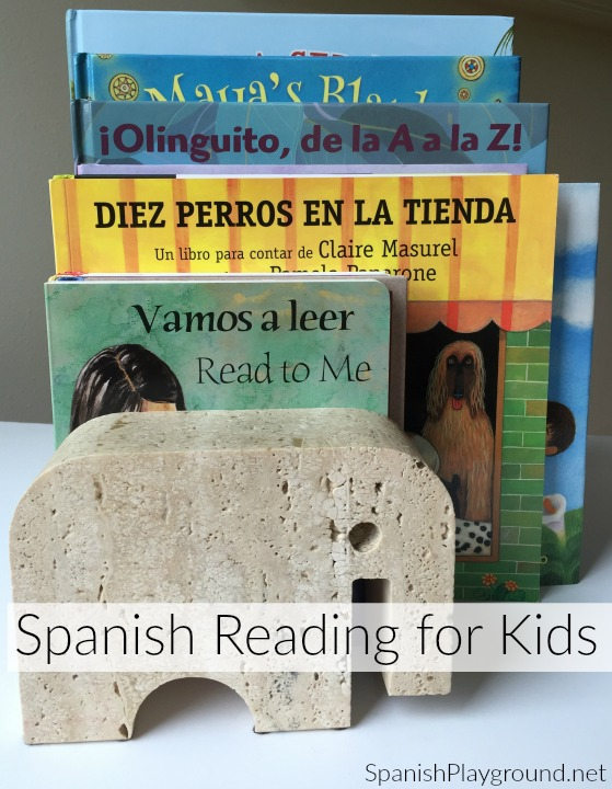 A collection of Spanish reading for kids to use in a summer reading program.