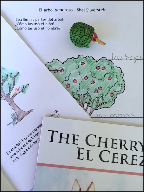 Readings about trees in Spanish with activities for kids to practice vocabulary.