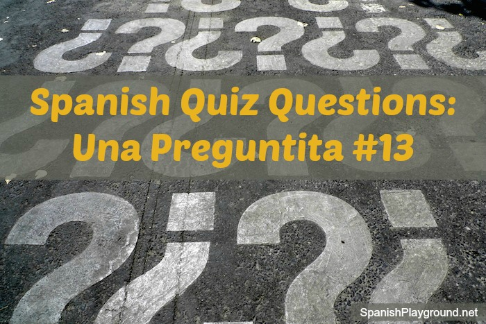 Spanish quiz questions are a fun way for children to practice familiar vocabulary in a new context.