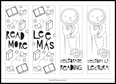 Printable Spanish bookmarks encourage kids to read more books in their second language.