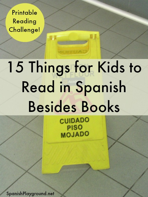 These 15 types of texts give children Spanish reading practice with different vocabulary and formats.