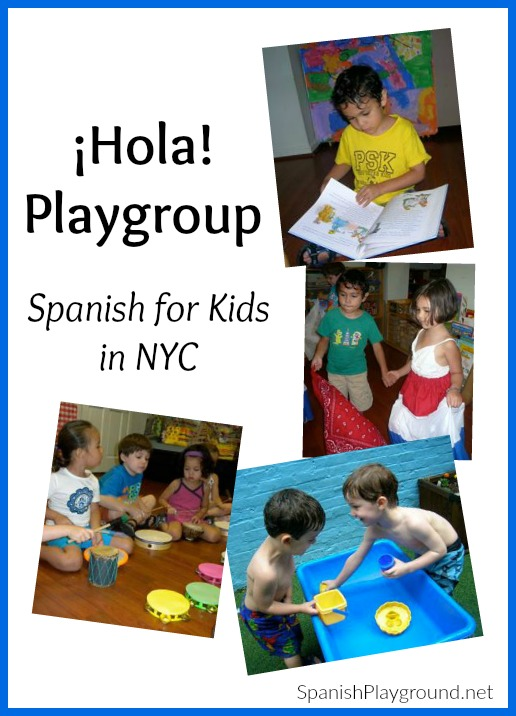 Hola Playgroup offers Spanish lessons for kids in NYC.