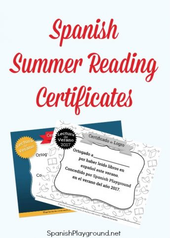 A summer reading certificate celebrates the effort kids put into reading in Spanish.