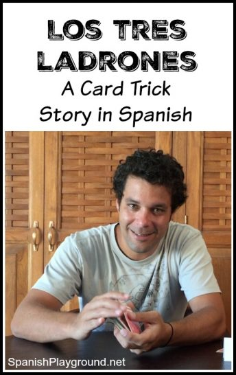 This easy card trick with video and transcript teaches kids basic words in Spanish.
