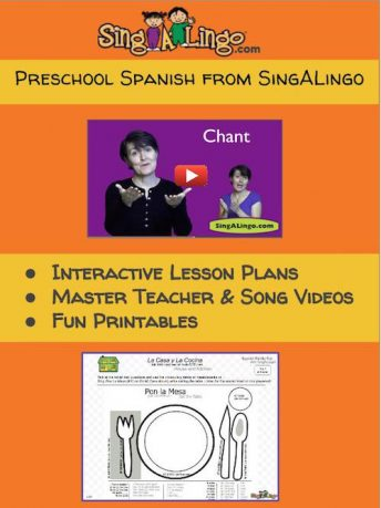 Preschool Spanish is fun and easy to teach with the SingALingo program.