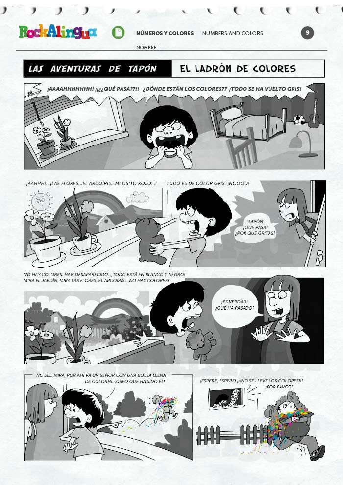 Spanish comics are excellent reading practice and can also be used for readers theater.