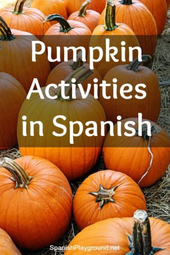 Pumpkin activities in Spanish teach children science vocabuary and concepts.