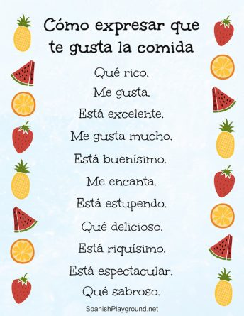 These 12 phrases are different ways to say delicious in Spanish and are appropriate at any meal.