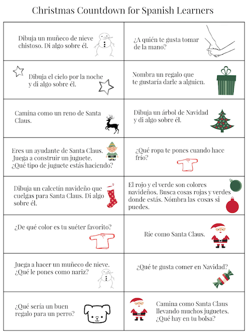 Use these questions to speak Spanish with kids during the Christmas season.