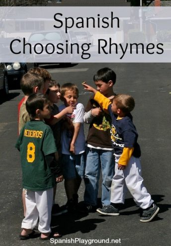 Spanish choosing rhymes teach vocabulary, rhythm, pronunciation and culture to language learners.
