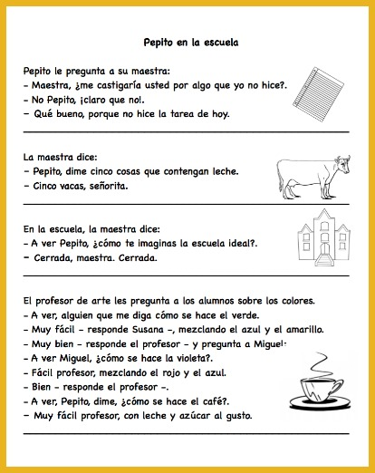 Pepito jokes are short and easy for Spanish learners to understand.