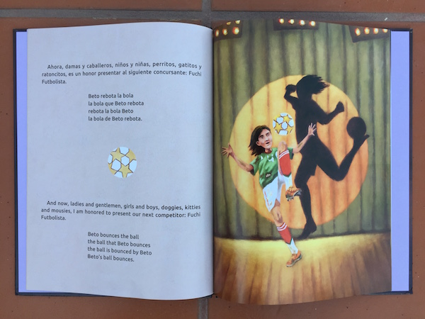 Tongue twisters in Spanish are fun and accessible in this beautiful picture book.