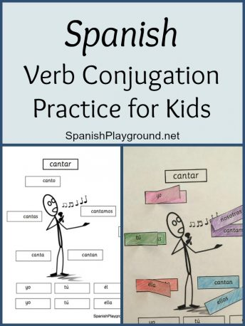 Kids get Spanish verb conjugation practice with this cut and paste activity.