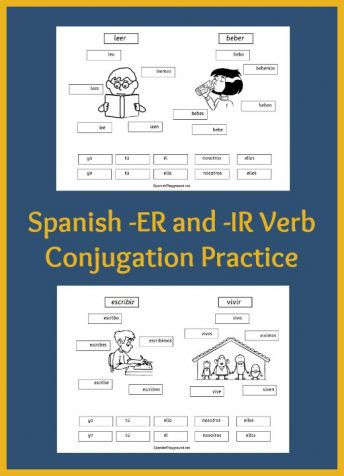 Spanish verb practice with common vocabulary and a hands-on activity.
