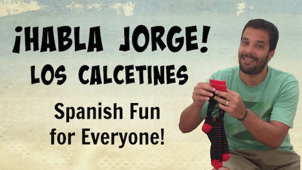 Kids learn words for Spanish clothes vocabulary with this video.