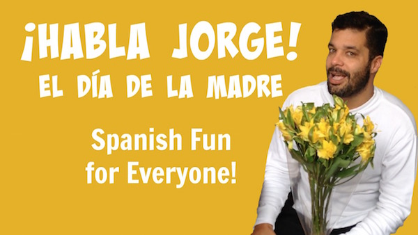 Kids learn Spanish as Jorge describes Mother's Day.