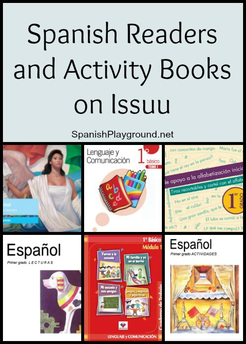 Issuu has a large selection of free Spanish readers and activity books.