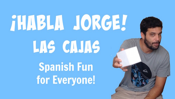 In this video kids learn Spanish words for describing boxes and what you can do with them.