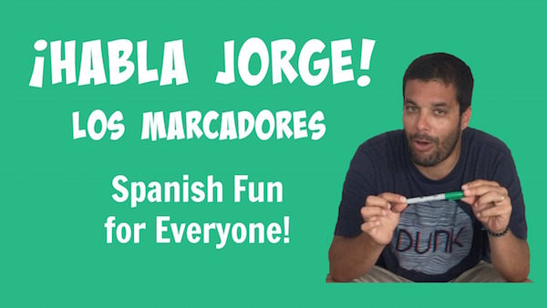 A video for kids to learn Spanish school supplies.