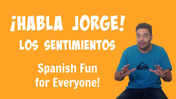 Children watch an engaging video using Spanish emotion vocabuary.