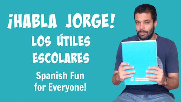 Kids learn Spanish school supplies with this Habla Jorge video.