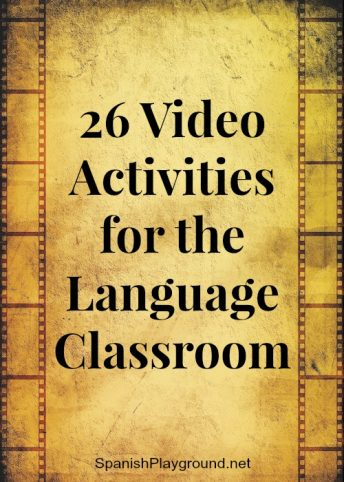 Video activities for language class engage kids with language and teach vocabulary and culture.