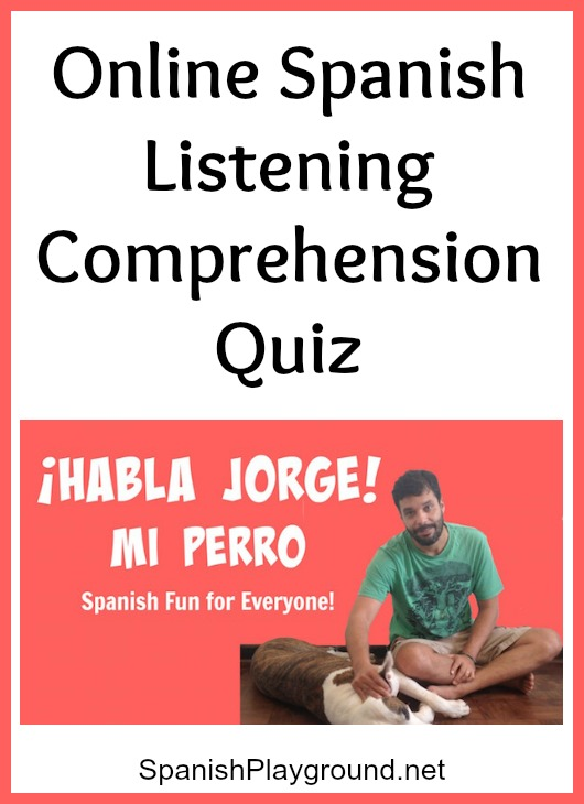 This online listening comprehension quiz for the video Mi Perro focuses on Spanish body part vocabulary.