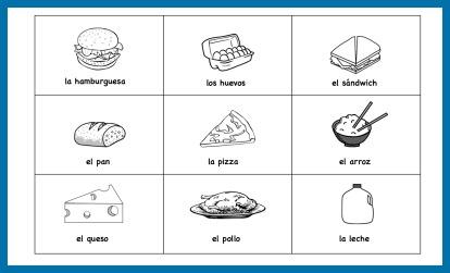 Spanish Food Vocabulary Printable Activities - Spanish