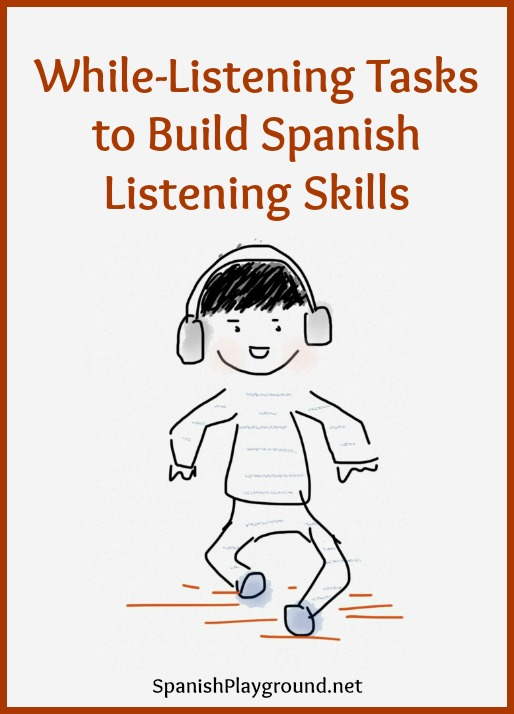 Use comprehension question to build global Spanish listening skills.