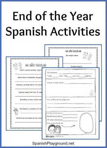 With these end of the year Spanish activities kids review and remember what they have learned.